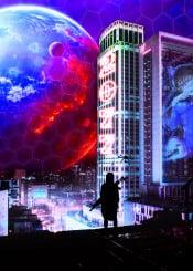 2077 cosmos droid earth new reality star virtual world