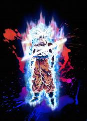 anime aura renegade splash dragon ball dragonball super saiyan god ultra instinct goku