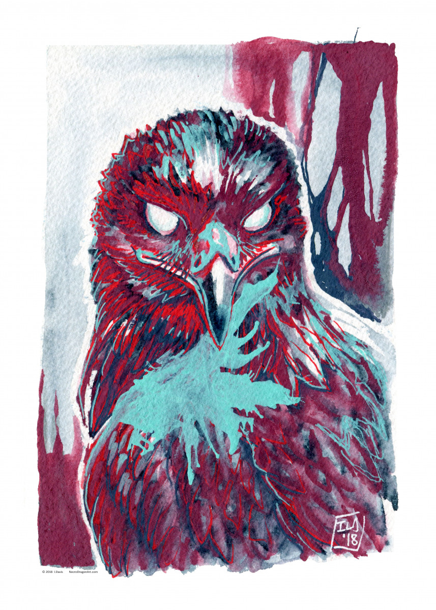 Red White And Blue Eagle By Isabelle Davis Metal Posters Displate