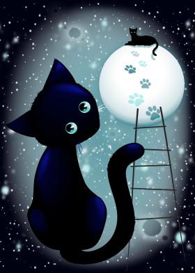 Blue Kitty Dream