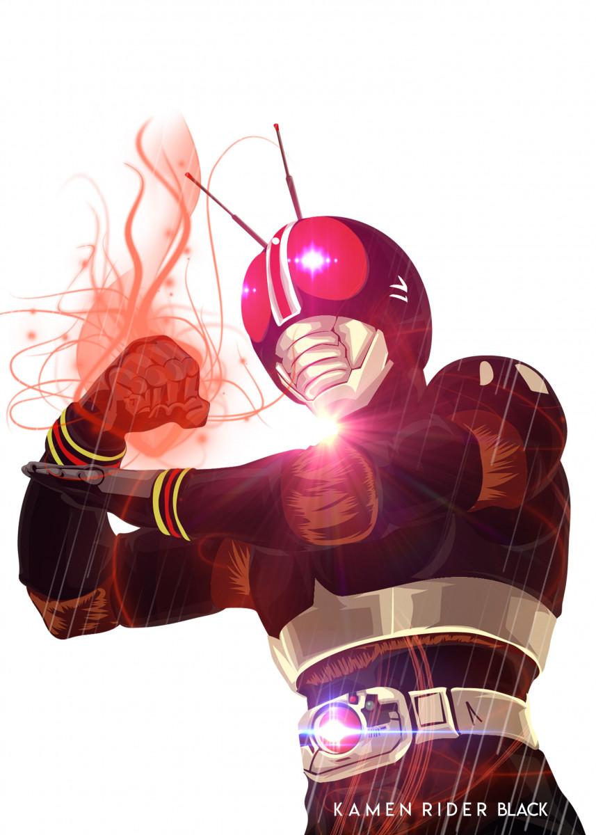 Kamen Rider BLACK by Arychie Surya | metal posters - Displate