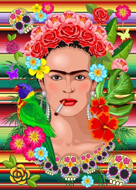 Frida Kahlo Exotic Face