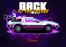 Back to the Future DeLorean DMC-12 80s Metal Art