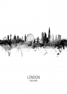 London England Skyline by Michael Tompsett | metal posters