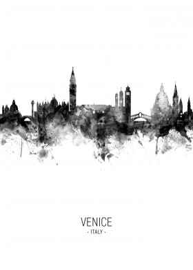 Venice Italy Skyline by Michael Tompsett | metal posters