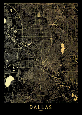 Gold City Maps by Multiplicity Maps | metal posters - Displate