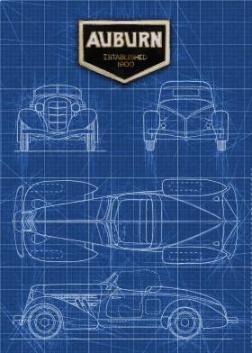 Cars Blueprints by Karl Herzog   metal posters - Displate
