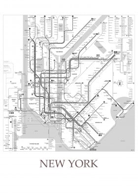 Black White Subway Map.Map Posters Metal Posters Displate
