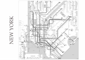 New York City Subway Map Black And White.Map Posters Metal Posters Displate