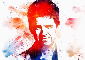 Noel Gallagher Unique Metal Art, medium or large