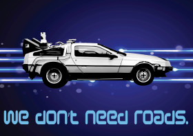 We Don't Need Roads Metal Poster