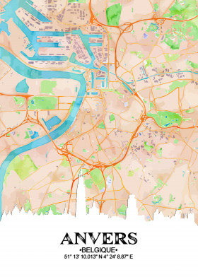 Maps posters - cartography prints on metal | Displate on