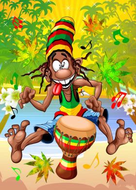 Rasta Cool Bongo Man