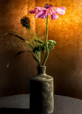 Flower in vase painting