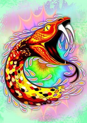 Snake Attack Psychedelic