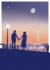 La La Land By Popculart Metal Posters Displate
