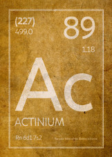 Periodic Table Elements Patent Distressed Style by Design