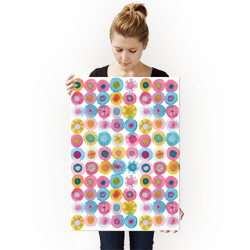 watercolor watercolour art painting abstract design nicsquirrell circles round happy fiesta party millefiori geometric bright Abstract