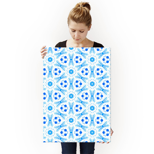 watercolor morocco moroccan tile geometric blue white nicsquirrell pattern Abstract