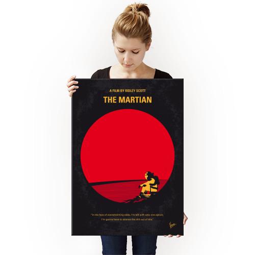 martian mars manned mission astronaut mark watney crew nasa earth surface planet ridley scott matt damon space minimal minimalism minimalist movie poster film graphic design chungkong style quote inspired Movies & TV