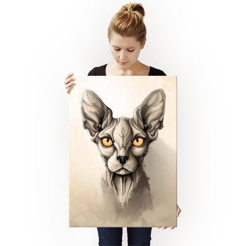 cat cats sphynx animal animals wild nature illustration Animals