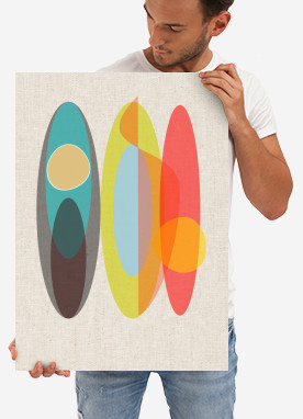 modern art abstract concept contemporary surf boards decoration