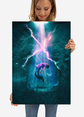 xfiles aliens scifi mulder scully ufo thunder night rain dark agent secret storm abduction power energy flash light shadow jump fly flying believe blue green pink violet drawing painting photo photography watercolor ritual shout spot