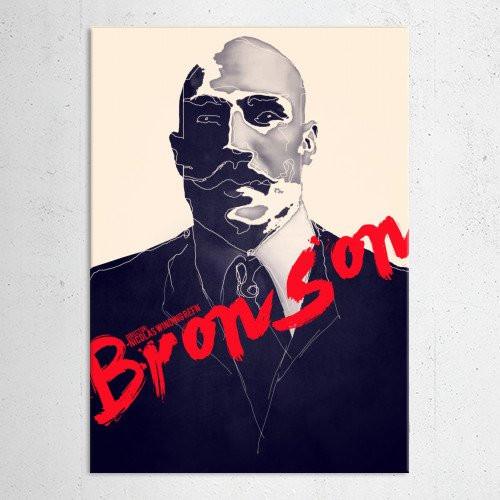 bronson tom hardy refn movie poster minimal typographi purple red vintage poster film Movies & TV