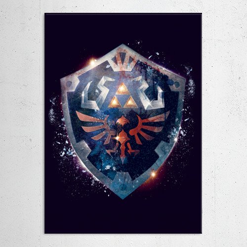 legendofzelda hylianshield shield zelda hyrule kingdom triforce nintendo game epic dramatic Gaming