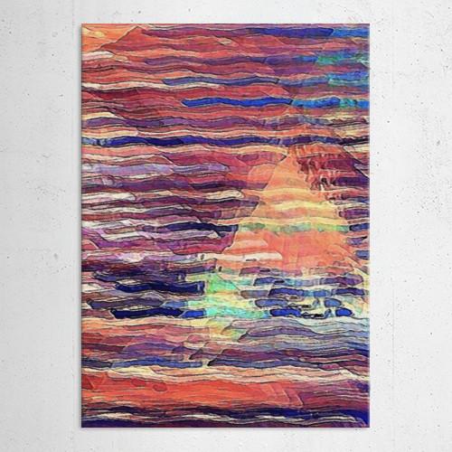 sailing sunset dusk ocean waves sea nautical Abstract