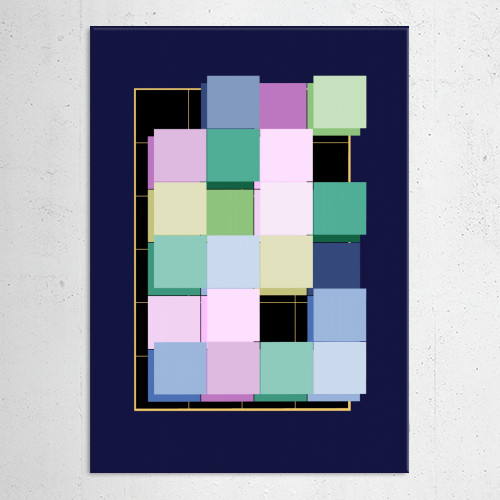 abstract geometric geometrical quadrangle square squares pastels shapes contemporary Abstract
