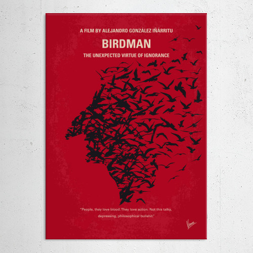 birdman riggan thomson superhero comic book actor broadway raymond carver play minimal minimalism minimalist movie poster graphic design chungkong style quote inspired sale gift room wall Movies & TV
