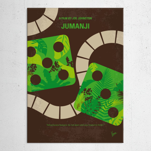 jumanji robin williams magical board game finishing alan parrish minimal minimalism minimalist movie poster film artwork chungkong graphic design gift sale best quote inspired Movies & TV