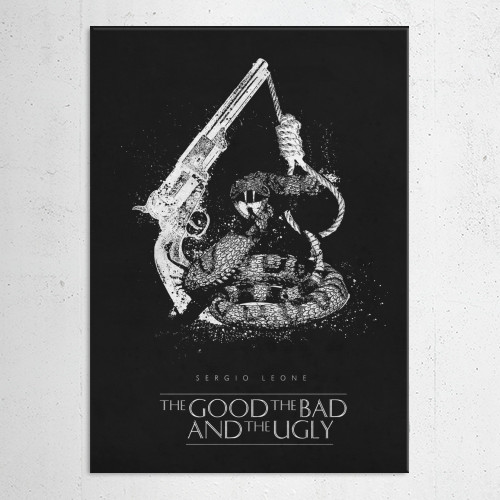 the good bad and ugly sergio leone classic movies posters splatter black Movies & TV