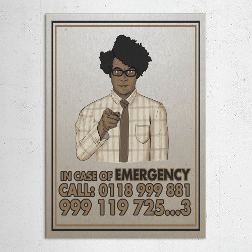 itcrowd it crowd maurice moss emergency unclesam sam uncle propaganda geek funny humor Movies & TV