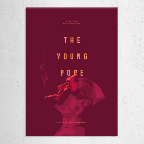 young pope sorrentino jude lowe series movie film design glitch typo color red yellow Movies & TV
