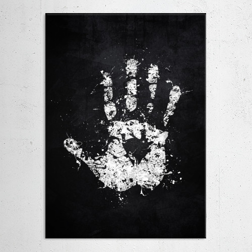 lord of the rings white hand saruman isengard sauron orc uruk hai evil two towers black splat splatter logo emblem symbol Movies & TV