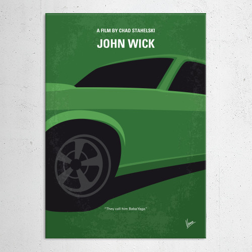 john wick wife 1969 mustang keanu reeves hitman car steal dog boogy babba yaga gangster russian minimal minimalism minimalist movie poster film cinema graphic design chungkong sale gift quote inspiration Movies & TV