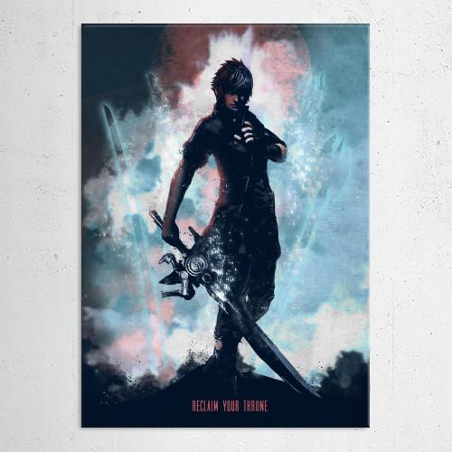 gaming characters noctis final fantasy xv 15 gamer games video room darkness black sword warrior heavens ward royal arms rpg role playing Gaming