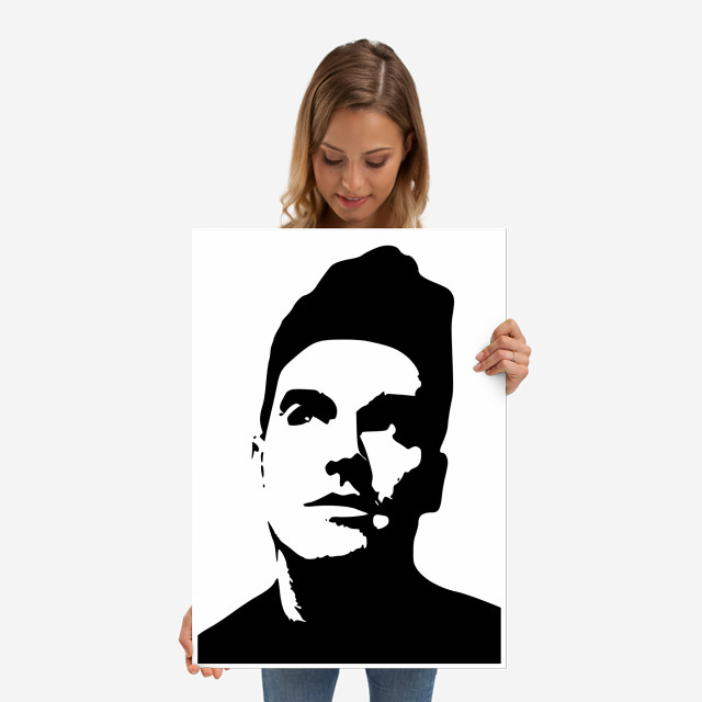 Morrissey Head Metal Wall Art