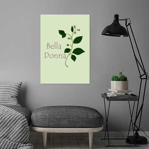 deadly nightshade belladonna botanical wicca witchcraft potion poisonous herbal plant flower beautiful bella donna atropa Illustration