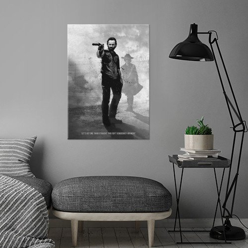rick grimes andrew lincoln walking dead series black white Movies & TV