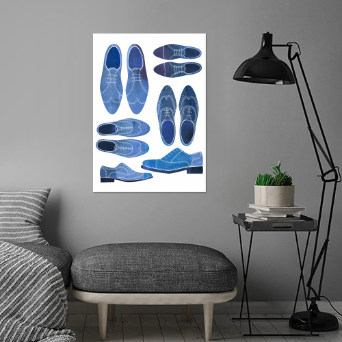 blue brogues shoes men man gentleman sartorial hipster father brother husband boyfriend fashion smart nicsquirrell Paintings
