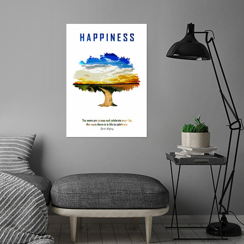 happiness peace love quote oprah inspiration happy tree sunset Other