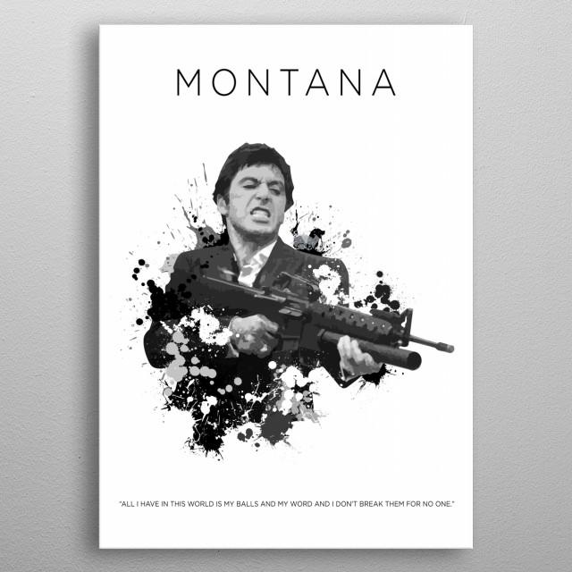 Tony Montana By Jos Peters Metal Posters Displate