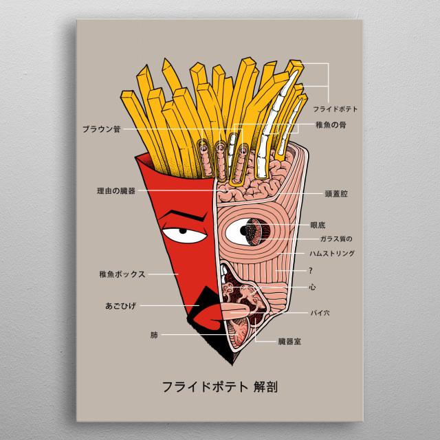 French Fries Box Anatomy by Pigboom Kaboom | metal posters - Displate