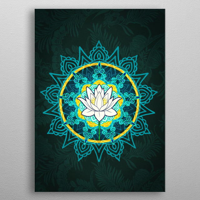 Lotus flower by bacht metal posters displate lotus flower metal poster mightylinksfo