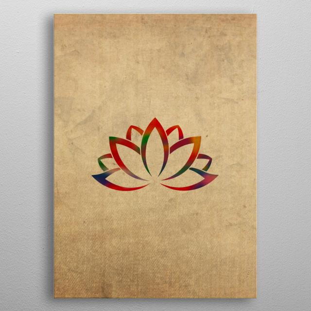 Lotus Flower Buddhist Symbol I By Graphix Displate Displate