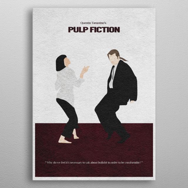 Pulp Fiction Minimalist And Alternate Movie Poster Metal