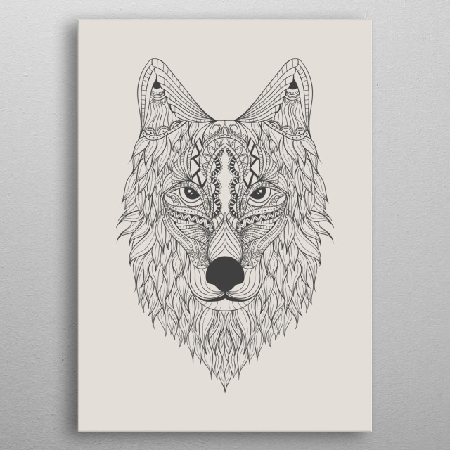 hand drawn wolf by rockstone metal posters displate